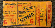Mickey Mantle 1st World Series Hr Ticket Brooklyn Dodgers Vs Ny Yankees G6