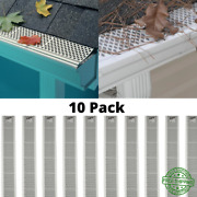 Pack Of Snap-in White Gutter Guard Cover Screen Debris Leaf Protection 3ft Units