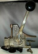 Rare Antique Yankee Bottle Corker Nickle Plated Cast Iron Table Mount
