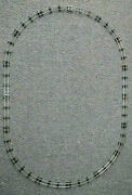 16 Pieces Vintage American Flyer S Gauge Train Track, Oval Track Layout.