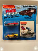 Vintage Matchbox Street Racers With Puffy Stickers Series 51-75 3 Car Sets Cn4