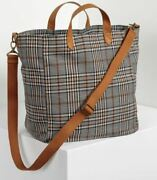 Thirty One Casual Crossbody Tote - Plaid About You Weave New Monogrammed M
