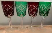 4 - Green And Ruby Red Goblet-all Purpose Cc I48 By Crystal Clear Industries 9