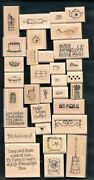 Love Bakes Set Kitchen Baker Lot Chef Cook Stampin' Up 32 Wood Rubber Stamps