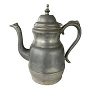 Antique Pewter Teapot Metal Coffee Civil War Era Possible Eb Manning 19th Cntry