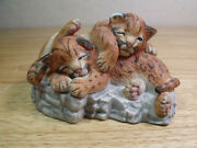Vintage Lenox Nature's Young Played Out Leopard Cubs 1988