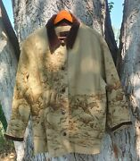 Hard To Find 3x Fox And Hound Fighting Scene Jacket/coat