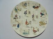 Williams Sonoma Twelve 12 Days Of Christmas Round Platter Charger 13 3/8