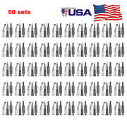 50 Kits Dental Push Button Low Speed Contra Angle Straight Air Motor E-type 4h