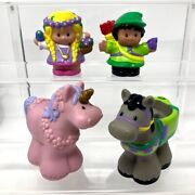 Fisher Price Little People Robin Hood And Maid Marion With Horses Figures