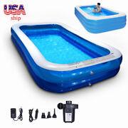 Inflatable Swimming Pools Above Ground Pool With Air Pump Kids Family Outdoor'