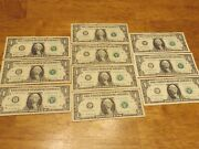 Star Notes - 2013 And 2017 1 One Dollar Bills - 3.98 Each - Details Below