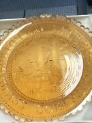 Vintage Pairpoint Cup Plate Boston And Sandwich Glass Company