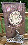 One Last Drink Closing Time Irish Pub Wood Sign Clock Cast Bell By The Kings Bay