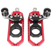 A Pair Motorcycle Chain Adjusters Tensioner For Yamaha Yzf R1 2004 2005 W/ Spool