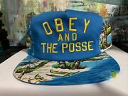 Obey And The Posse - Tropical Snapback Hat Palm Hawaiian Beach Ocean