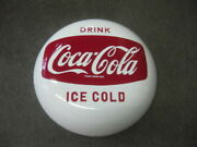 Japan Showa Retro Department Store Coca Cola White One-sided Horrow Signboard