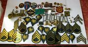 Vintage Lot Of Us Army Patches, Buttons, Ribbons And Insignia-wwii To Vietnam