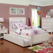 Saltoro Sherpi Transitional Sleigh Twin Bed With Plank Style Headboard Antique