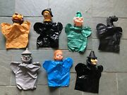 Vintage Wizard Of Oz Proctor And Gamble Hand Puppets Set Of 7