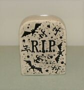 Nora Fleming Tombstone Mini Retired Old Style Nf Markings Halloween Grave Stone