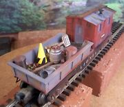O Scale Lionel Custom Weathered Detailed Mow Maintenance Of Way Car Lighted