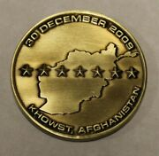 Central Intelligence Agency Cia Khowst Afghanistan Remembrance Challenge Coin