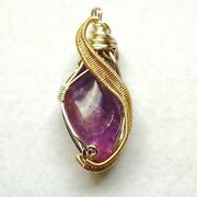 Raw Amethyst Healing Crystal Necklace Elegant Classy Designs By Nature Nwt