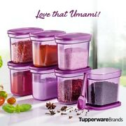 Hot Sale Tupperware Umami Collection Set Spices Storage 8 Units With Spoon -dhl
