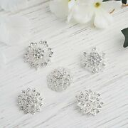 100 Silver Metal Assorted Brooches Floral Pins With Rhinestones Light Gray Sale