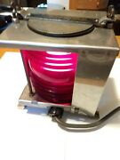 Vintage Carlisle And Finch Co. Navigation Light - Red Portside Fixture - Heavy