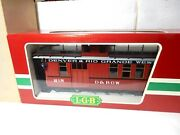 Lgb G Scale 4075 Denver And Rio Grande Western Combo Caboose With Box/sleeve New