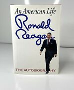 President Ronald Reagan Signed Hardcover Book An American Life Signed To Nancy