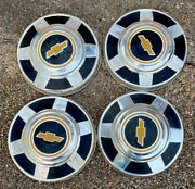 1977-1987 Chevrolet 3/4 Ton Pickup Truck Dog Dish Hubcaps 12 Early Takeoffs