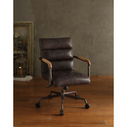 Saltoro Sherpi Metal And Leather Executive Office Chair Antique Brown