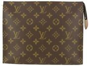 Louis Vuitton Discontinued Monogram Toiletry Pouch 26 Cosmetic Case 98lv55