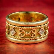 Victorian Style Diamond Spinning Band Ring 18ct Gold