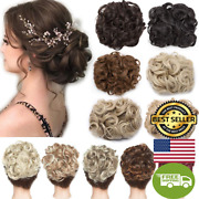 Messy Curly Dish Hair Bun Extension Easy Stretch Hair Combs Clip In Ponytail Hai