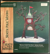 Dept 56 - Welcome To North Pole Woods Gateway Entrance - Mint