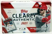 2021 Topps Clearly Authentic Baseball 20 Box Case Blowout Cards