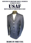 Menand039s 43s Usaf Coat Service Dress Blue Us Military Air Force Issue Jacket 1620