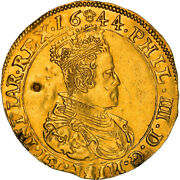[867472] Coin Spanish Netherlands Brabant Philip Iv 2 Souverain Dand039or 1644