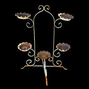 Antique Victorian Wrought Iron Outdoor Plant Stand