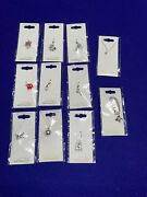Disney Parks Arribas Charm W/crystals From , Bracelet Or Necklace Pick