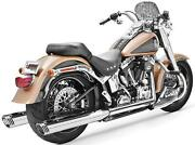 Freedom Performance Racing Dual Exhaust System-chrome Body W/ Chrome Tip-hd00134
