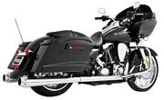 Freedom Performance American Outlaw Dual Exhaust System-chrome Body W/ Chrome