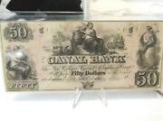 United States 50 Dollar 1800s New Orleans Canal And Banking Company Banknote