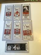 Mike Trout 1st Major League Hit 7/9/11 Ticket Plus 6 More Ml First Tickets Nrmt