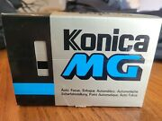Konica Mg Hexanon 35mm Autofocus Point And Shoot Film Camera With Box And Manual