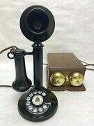 Western Electric Candlestick Nice Original Paint Working Telephone